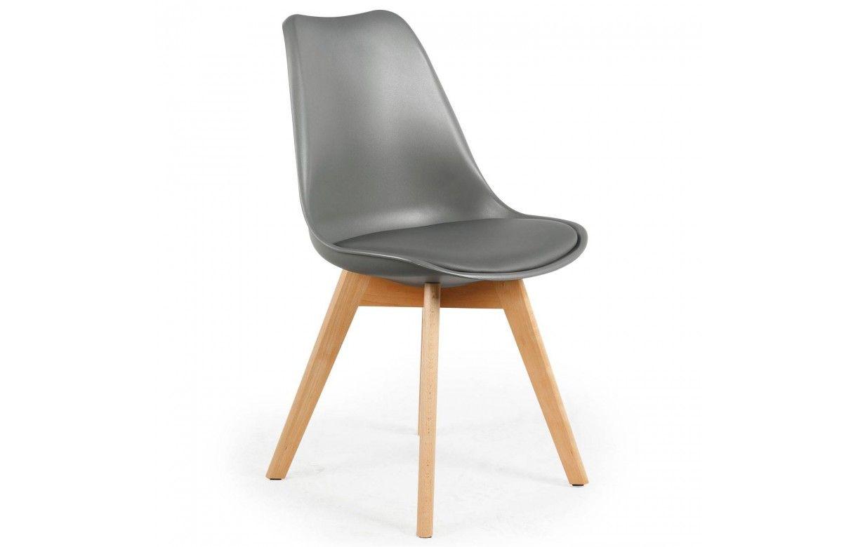 Chaise style scandinave assise en simili cuir Lot de 4