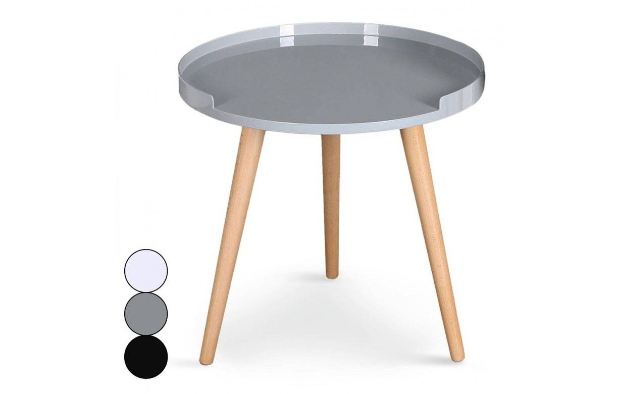 Table basse ronde avec rebords scandinave - Table basse pratique ...