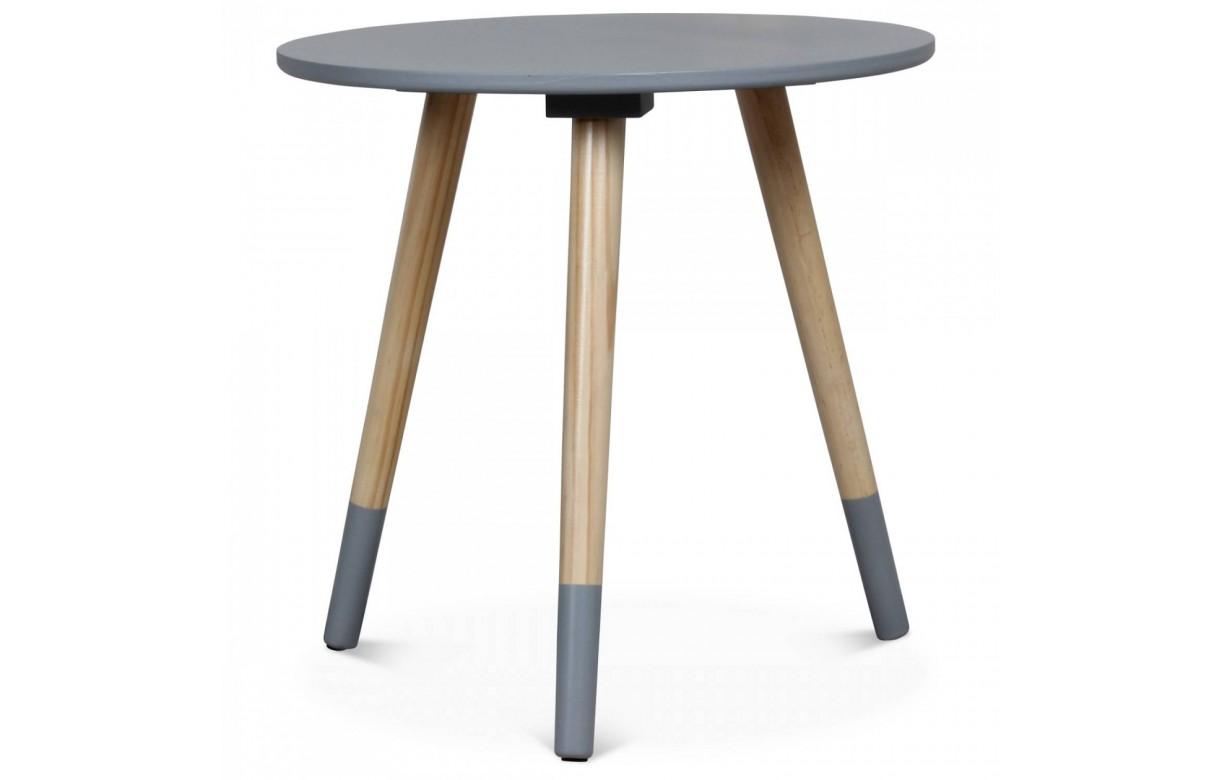 Petite table basse ronde scandinave h40cm 4 coloris - Petite table ronde bois ...