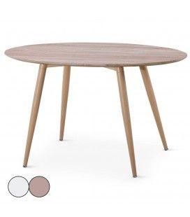 Table ovale bois clair style scandinave Hilda