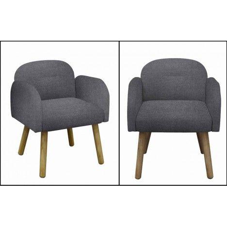Chaise fauteuil design scandinave en tissu Hans -