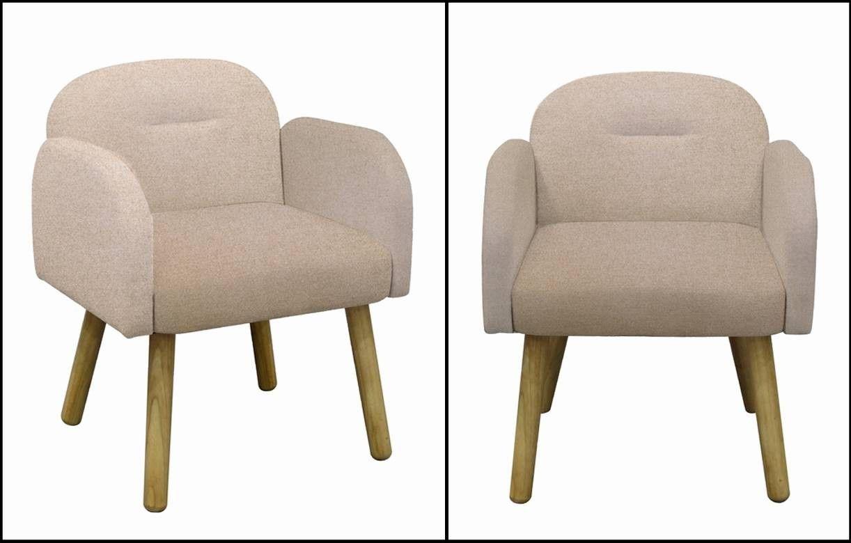 Chaise fauteuil design scandinave en tissu hans decome store - Chaises en tissus design ...