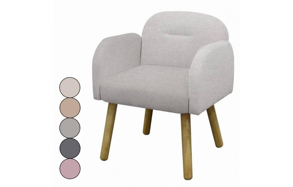 Chaise fauteuil design scandinave en tissu hans decome store for Chaise fauteuil scandinave