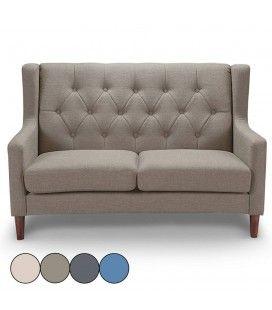 Canapé 2 places en tissu capitonné style scandinave