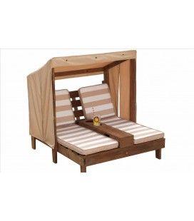 Double transat pour enfants en bois clair ou foncé Kidkraft