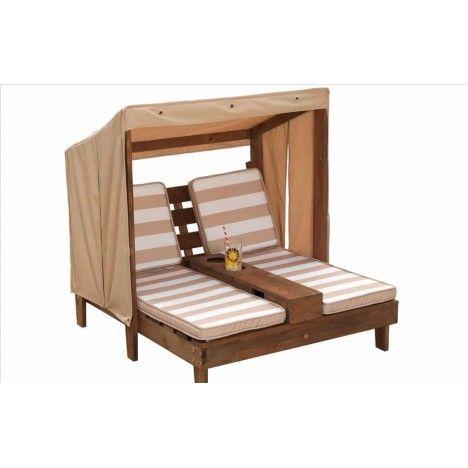 Double transat pour enfants en bois clair ou foncé Kidkraft -