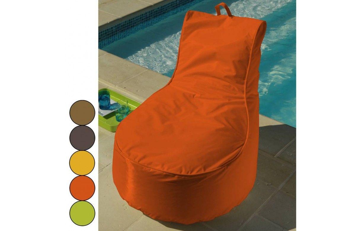 pouf d 39 ext rieur avec dossier et poign e jura textiles. Black Bedroom Furniture Sets. Home Design Ideas