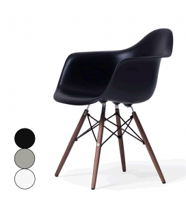 Fauteuil design en bois massif et fibre de verre - 3 coloris -