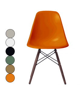Chaise design en bois massif et fibre de verre - 6 coloris