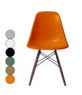 Chaise design en bois massif et fibre de verre - 6 coloris -