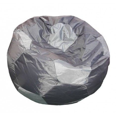 Pouf géant ballon de foot intérieur ou extérieur - 3 coloris -
