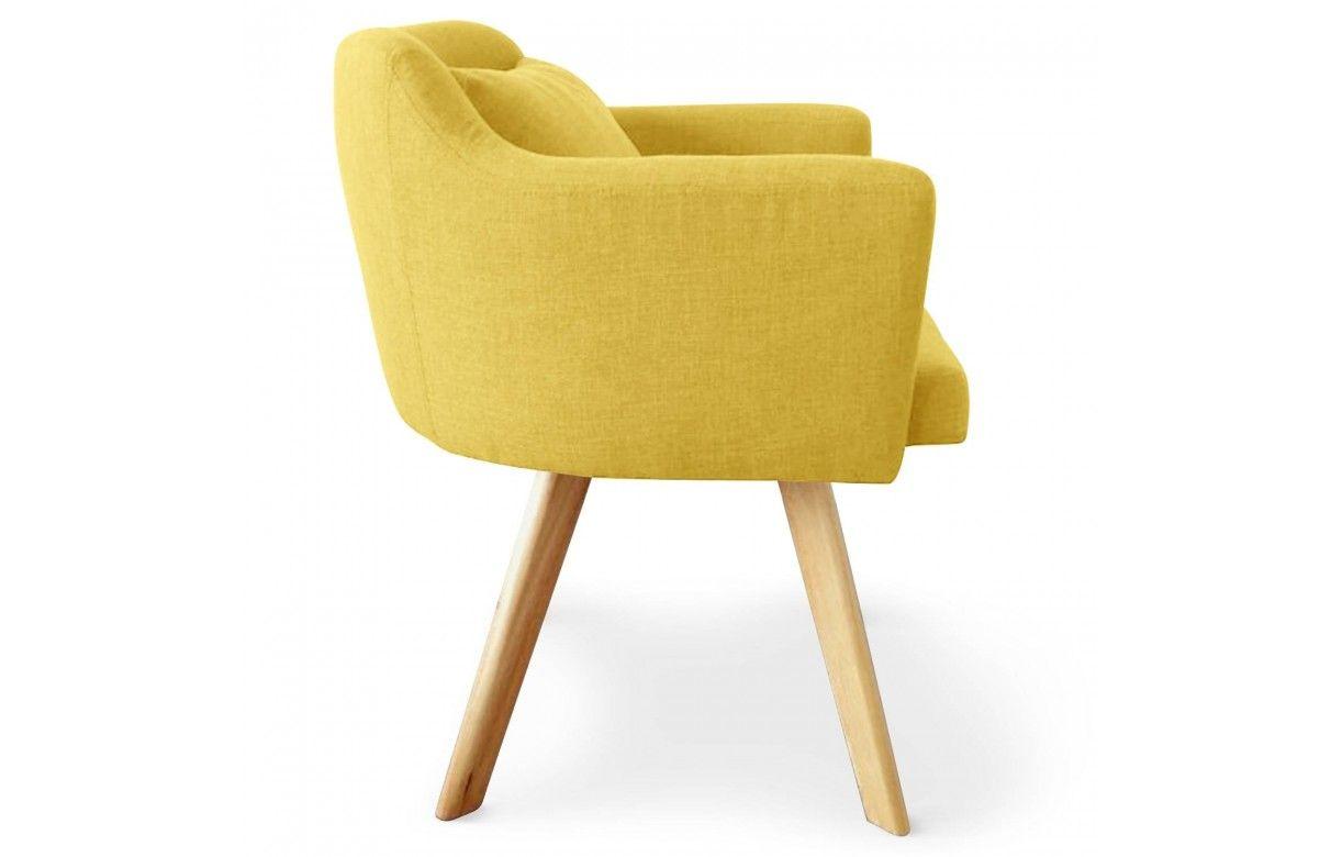 Chaise fauteuil scandinave dantes tissu 5 coloris for Scandinave chaise