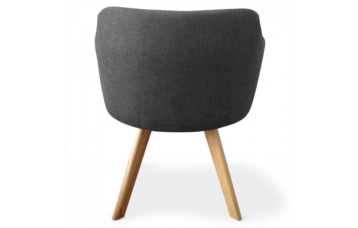 Chaise fauteuil scandinave dantes tissu 5 coloris for Fauteuil chaise scandinave