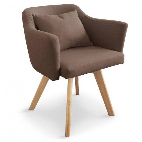 Chaise fauteuil scandinave en tissu Dantes -