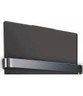 Sèche serviette noir verre trempé 1200w - H120cm -