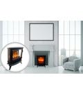 Foyer cheminée électrique noire flamme 3D Fire GLass -