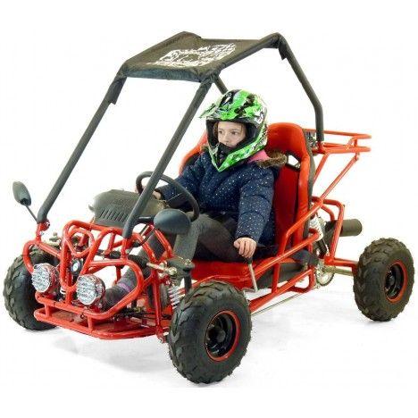 Buggy enfant 110cc rouge ou noir 2 places 4 temps -