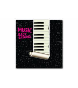 Tableau Disco Clavier de piano 50x50 cm BACKGROUND
