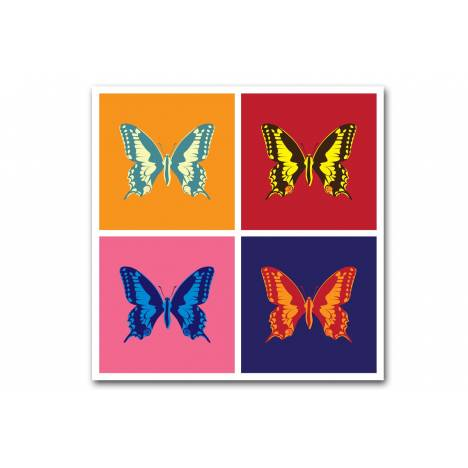 tableau pop art papillon 4 couleurs 50x50 cm butterflies decome store. Black Bedroom Furniture Sets. Home Design Ideas
