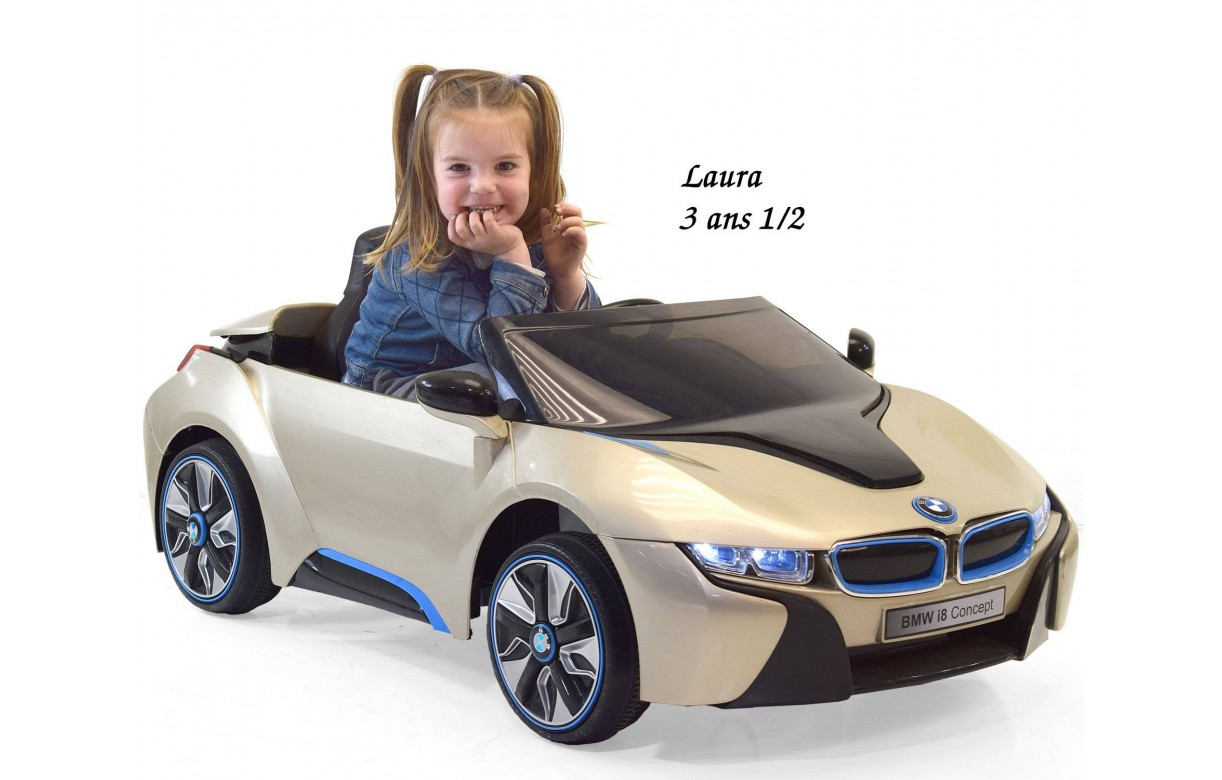 voiture lectrique pour enfant bmw i8 officiel avec t l commande. Black Bedroom Furniture Sets. Home Design Ideas