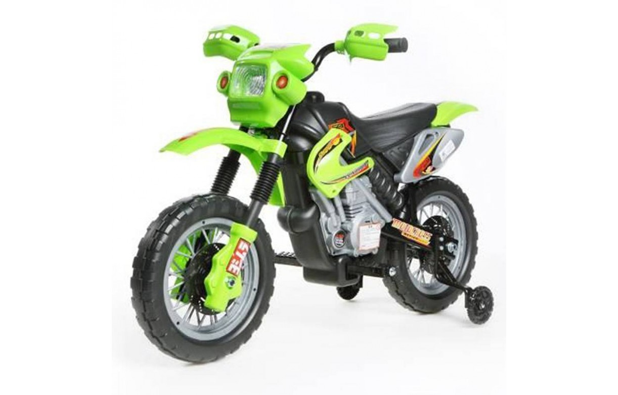 mini moto cross lectrique rouge ou vert pour enfant 12v. Black Bedroom Furniture Sets. Home Design Ideas