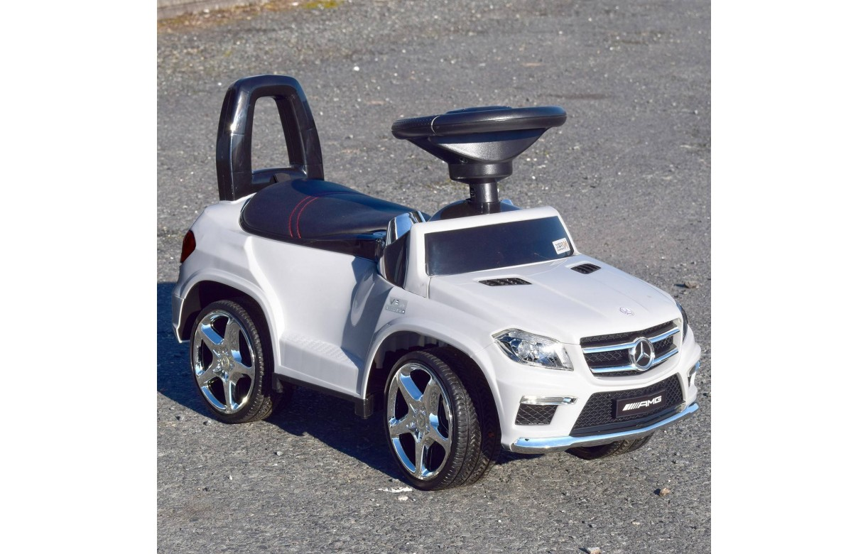 porteur enfant mini voiture mercedes ml 4x4 blanc. Black Bedroom Furniture Sets. Home Design Ideas