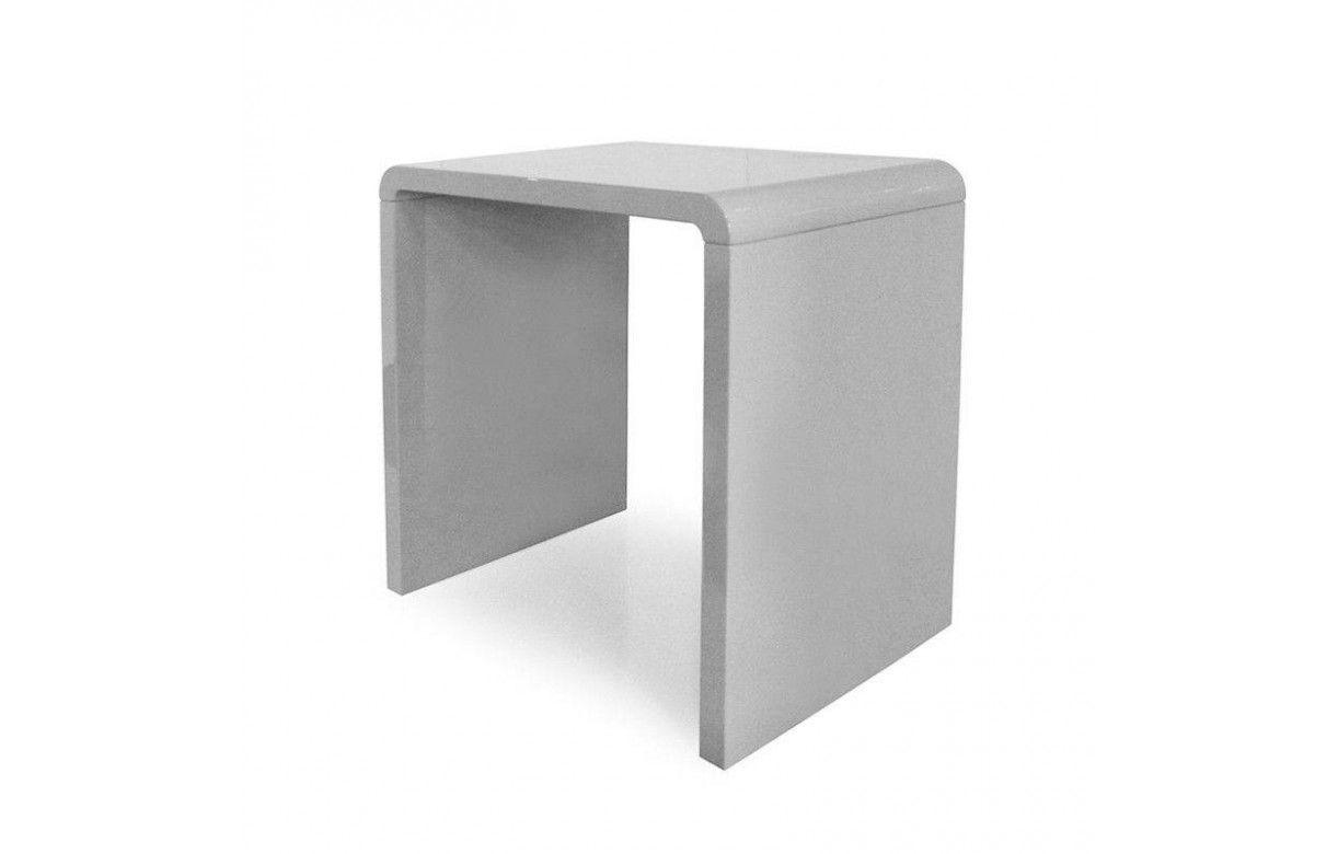 Console design laqu e taupe gris noir ou blanc 70 cm for Salon noir blanc taupe