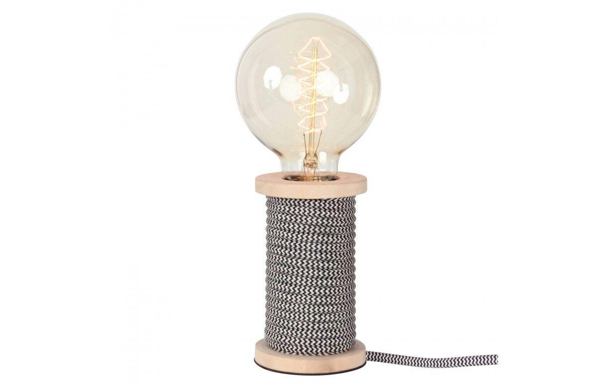 Lampe Bobine De Fil Vintage Cable Gaine 9 Coloris