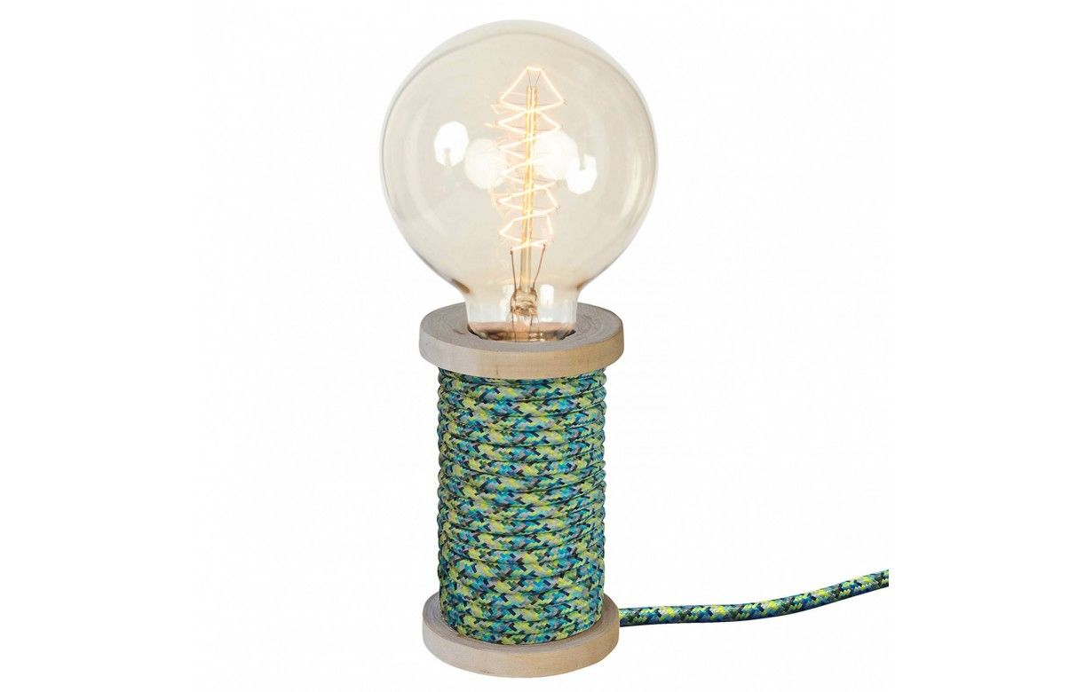 lampe bobine de fil vintage cable gain 9 coloris. Black Bedroom Furniture Sets. Home Design Ideas