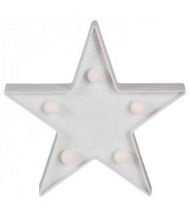Veilleuse lampe étoile star mini ampoules 16cm
