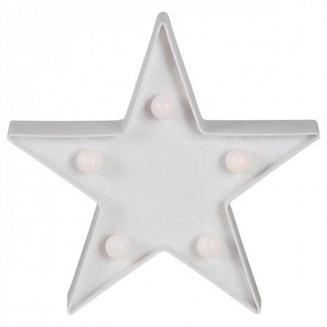 Veilleuse lampe étoile star mini ampoules 16cm -