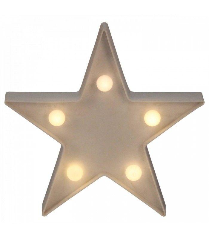 Veilleuse Lampe Etoile Star Mini Ampoules 16cm