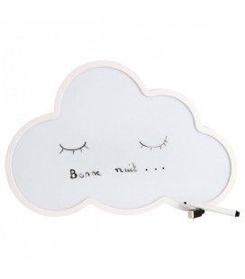 Veilleuse nuage à message lumineux LED + feutre effacable