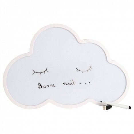 Veilleuse nuage à message lumineux LED + feutre effacable -
