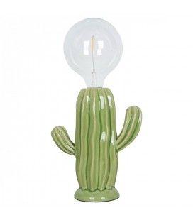 Lampe Cactus Napolea en porcelaine (H.22cm)