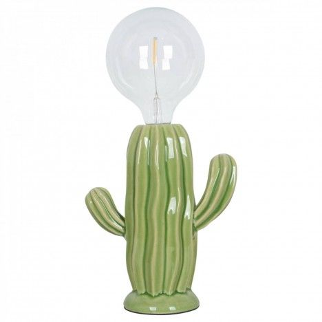 Lampe Cactus Napolea en porcelaine (H.22cm) -