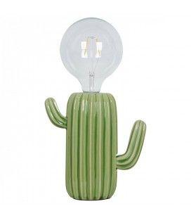 Lampe Cactus Giganteus en porcelaine (H.20,5cm)