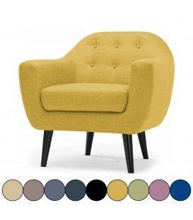 Fauteuil scandinave Fidely - 9 coloris -