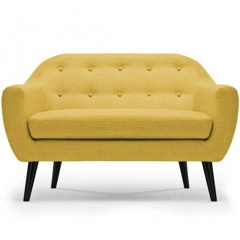 Canapé 2 places nordique en tissu Fidely - 9 coloris -