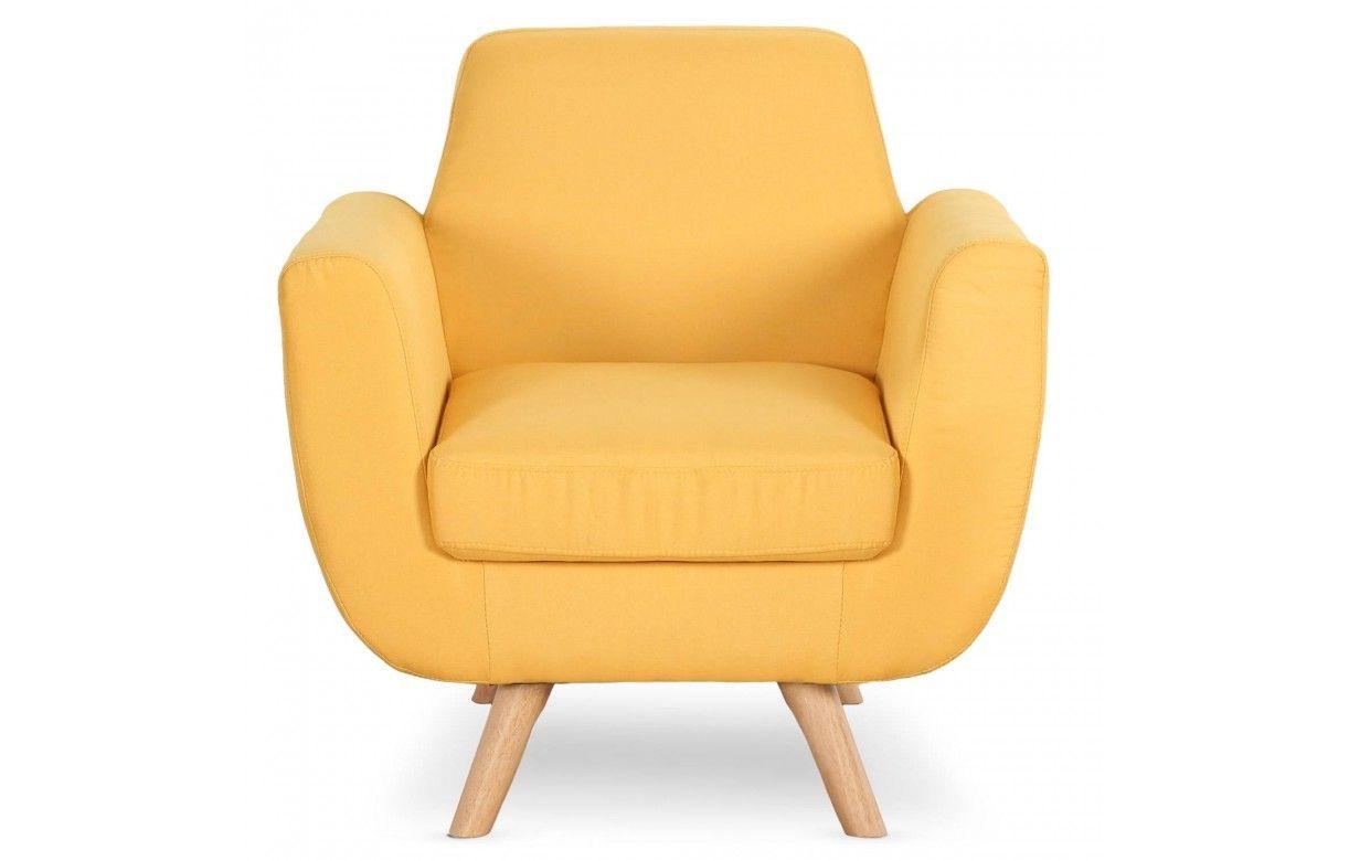 fauteuil style nordique tissu et bois clair danube. Black Bedroom Furniture Sets. Home Design Ideas