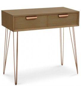 Console bois et métal avec tiroirs Janice -