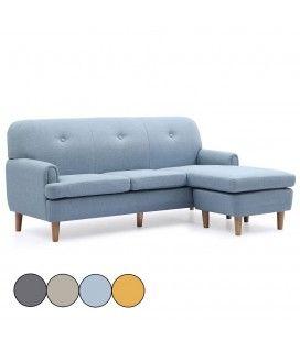 Canapé d'angle réversible en tissu style scandinave Leno