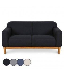 Canapé style scandinave 2 places en tissu Amy -