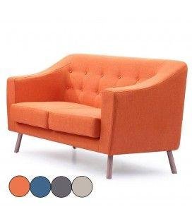Canapé style nordique 2 places en tissu Sisi -