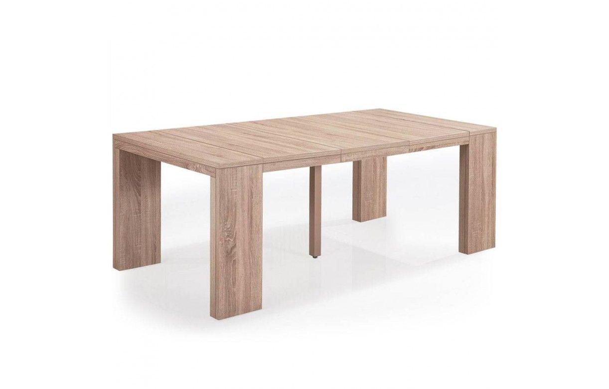 table console extensible rallonges en bois chene clair. Black Bedroom Furniture Sets. Home Design Ideas
