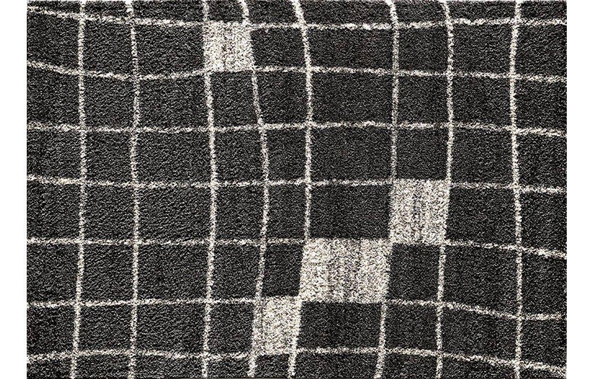 Tapis rectangle de salon gris fonc et beige for Salon gris et beige