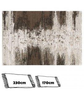 Tapis motif dégradé tons beige et marron 120x170cm