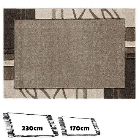 grand tapis tons beige taupe et marron 230x160cm. Black Bedroom Furniture Sets. Home Design Ideas