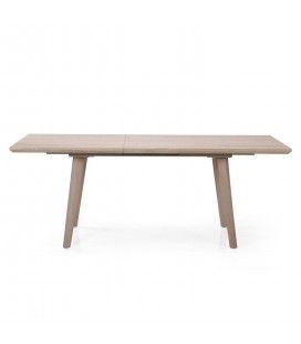 Table de repas extensible bois clair 160 à 200cm