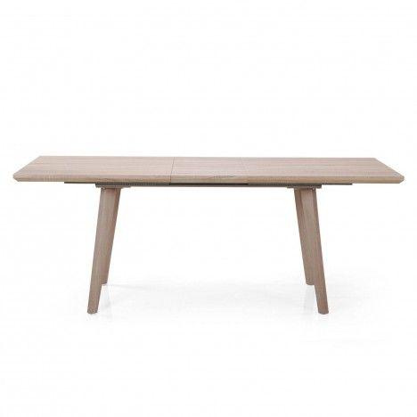 Table de repas extensible bois clair 160 à 200cm -